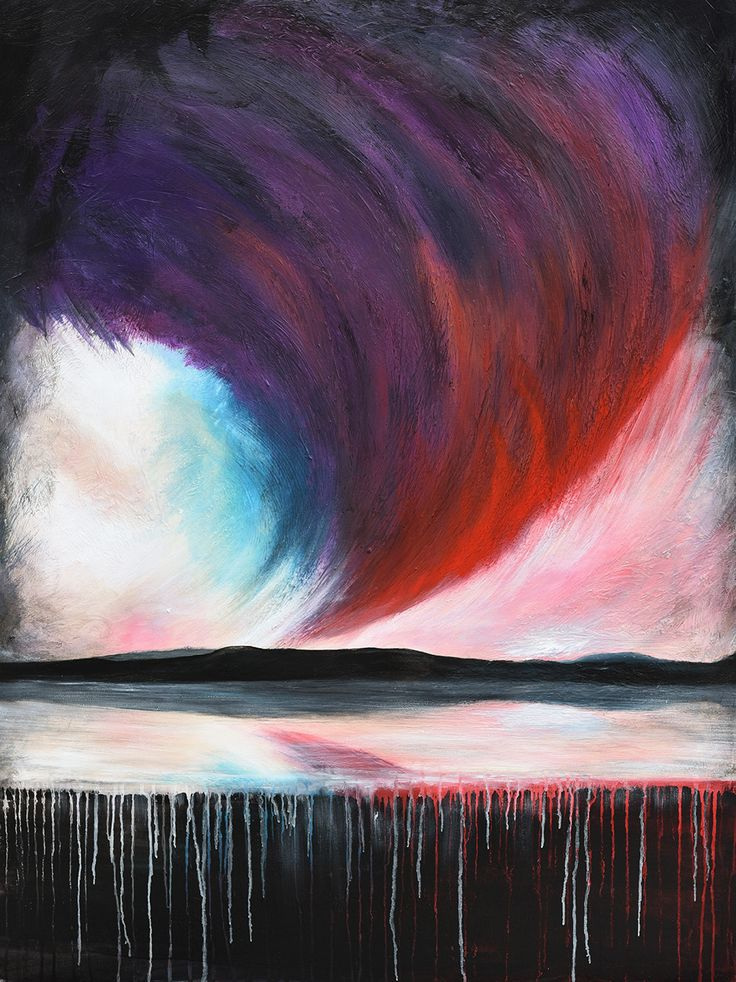 Storm Front - Acrylic on canvas - by New Zealand artist Julian Hindson - 900mm x 1200mm - www.hindson.co.nz