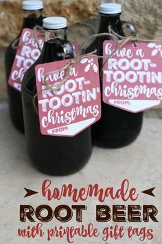 Homemade Root Beer using Dry Ice:  An amazing science project and gift in one.  An Excellent idea for Neighbor Gifts or Gifts for Friends!