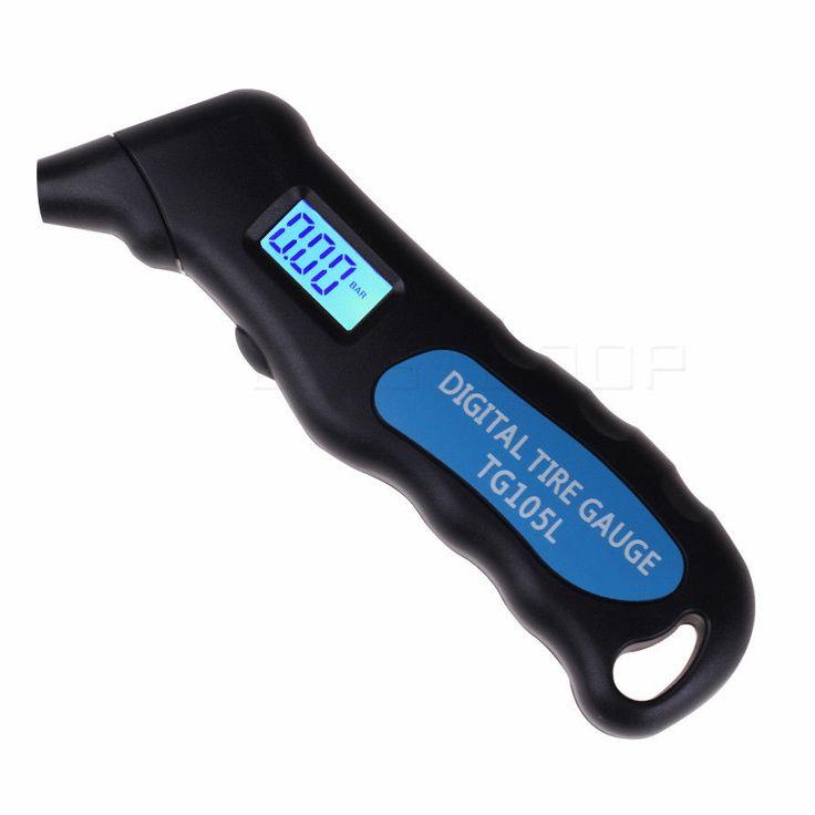 Digital Tire Gauge Auto Car Truck Air Tire Pressure Gauge Tester in LCD Screen  #Unbranded