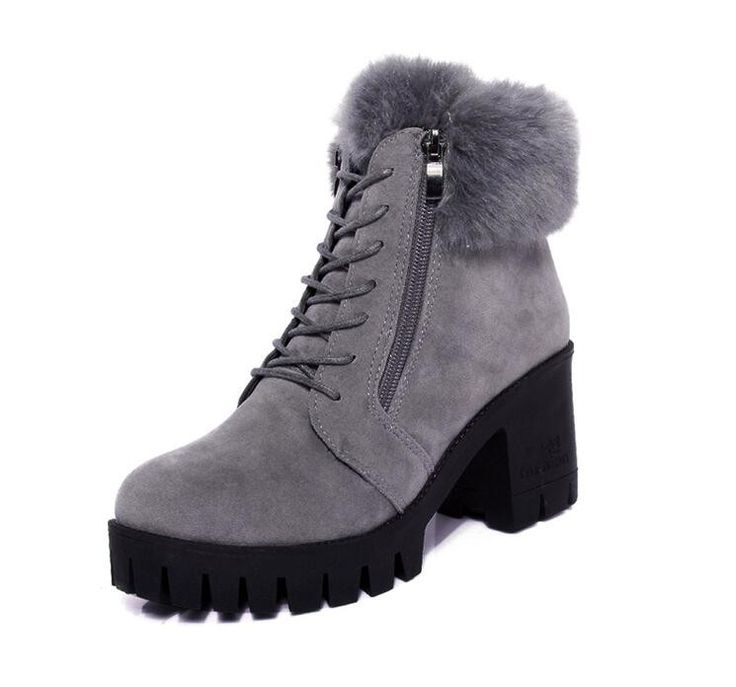 Department Name: Adult Item Type: Boots Shoe Width: Medium(B,M) Process: Adhesive Season: Winter Platform Height: 0-3cm With Platforms: Yes Closure Type: Zip Boot Height: Ankle Toe Shape: Round Toe is