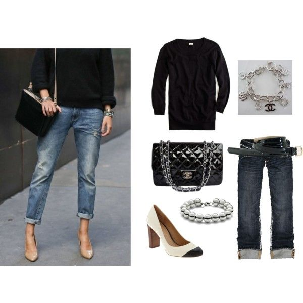Jeans and Black you can't go wrong with this combination:-)