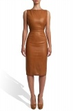Leather dress with embroidered back - sp007 - STEPHAN PELGER 0