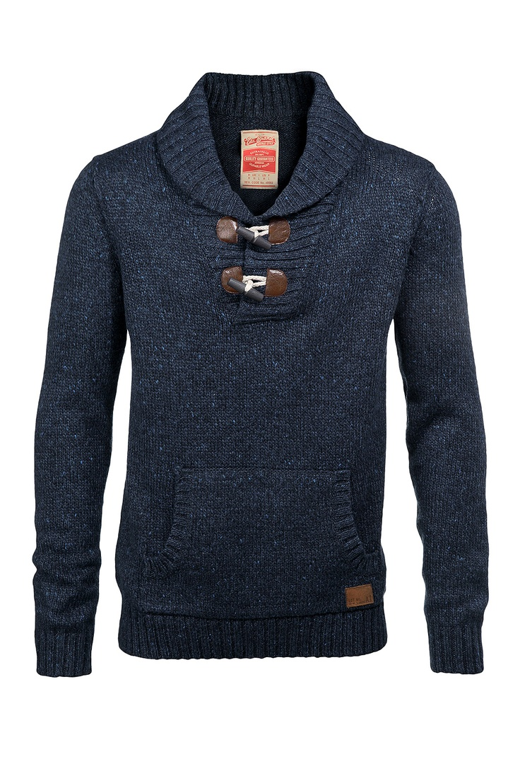My man style....  Wool Shawl Collar Pullover with Toggle Closure