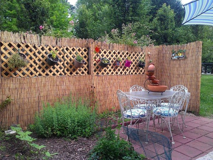 Patio Fence Coverup