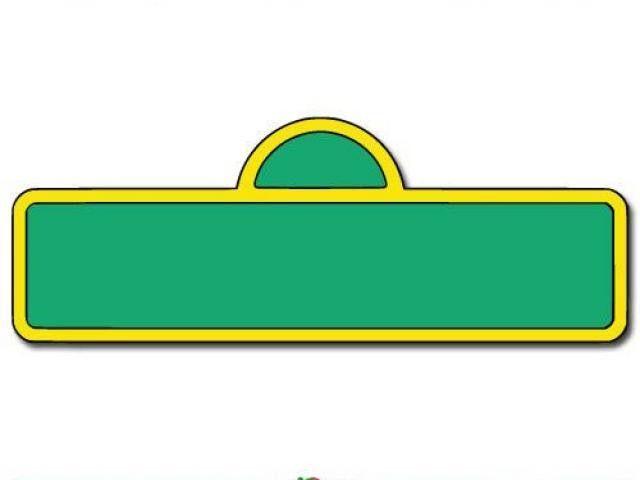 Sesame Street Sign Template Impressive Sesame Street Clipart Free