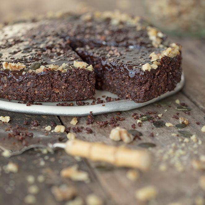 Veganer Schokoladenkuchen - glutenfrei und ohne Backen