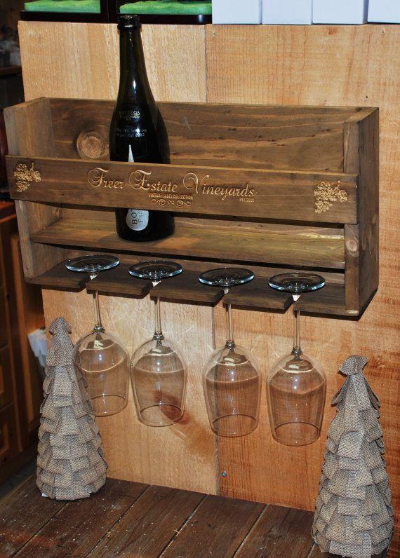 Hand made Custom Laser Engraved Wine Rack by MemoriesMadeToronto