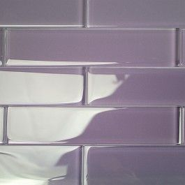 shop for loft lilac 2x8 polished glass tiles at tilebarcom