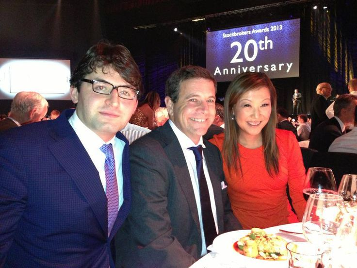 At the Australian Stockbroker Awards with the spokesman and market expert of Macquarie Bank, James Rosenberg and Julia Lee of Bell Potter. Thank you everyone for all your support!