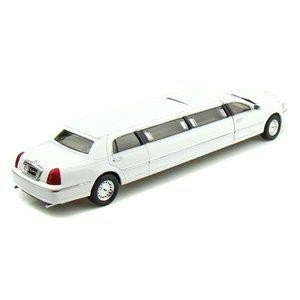 Unique Replicas Lincoln Celebrity Limousine 1/24 White UR18801 ミニカー ダイキャスト 自動車