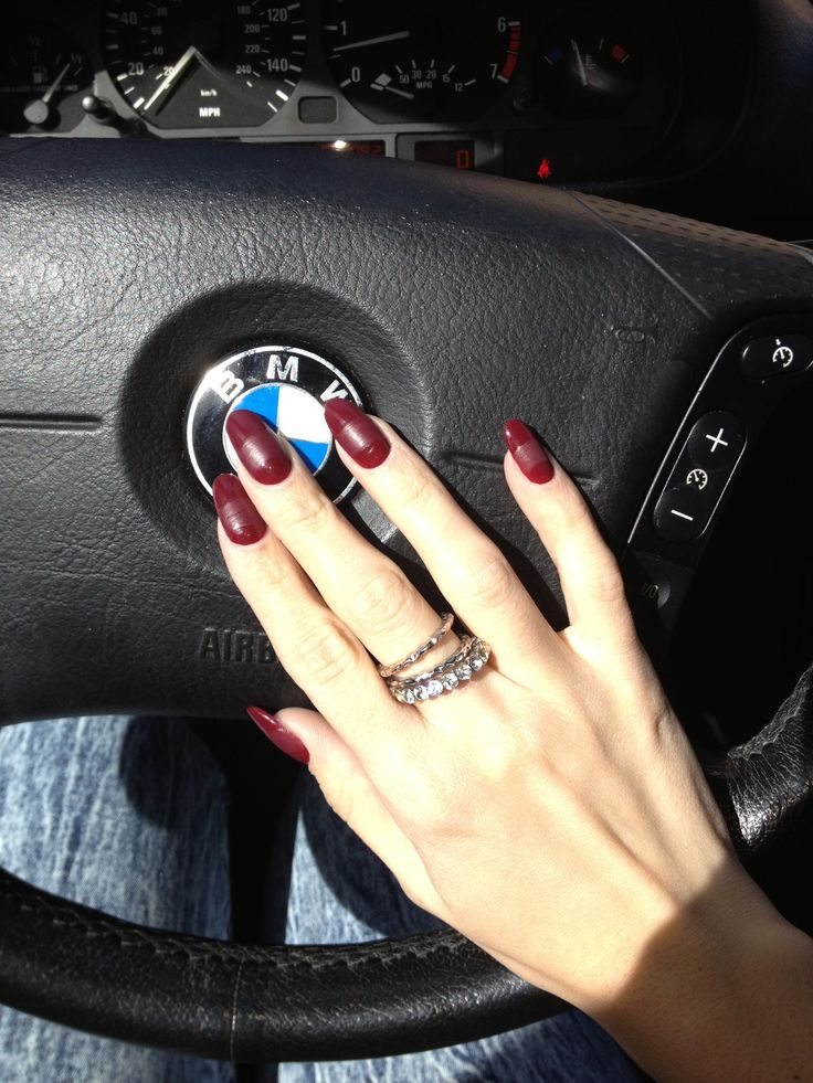 Burgundy and matte round nails | Nails! | Pinterest ...