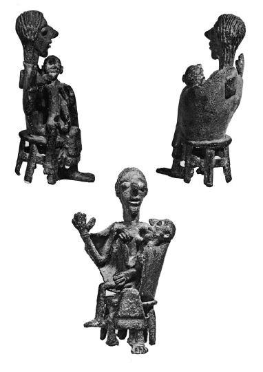 Sardinia, bronze sculpture representing a mother