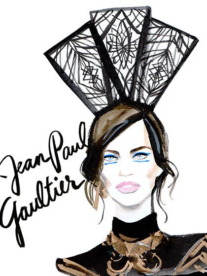 Couture Fashion Week 2015 - Jean Paul Gaultier Illustration