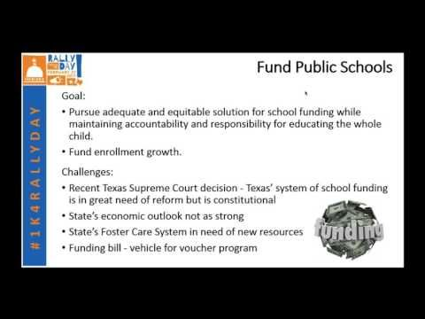 Rally Day - Texas PTA - webinar on legislative priorities