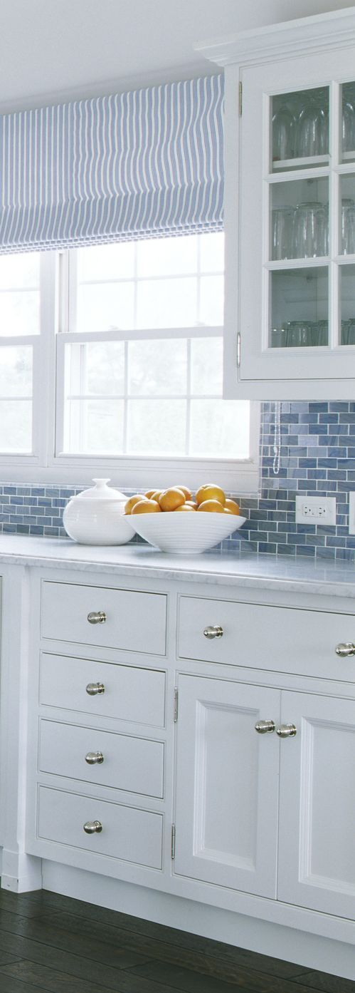 Blue and White Decorating Ideas | Grandview | Backsplash ...