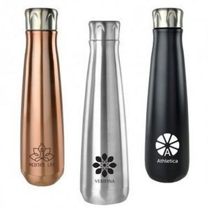 Stainless steel vacuum drinkware continues as the biggest trend both in retail and branded drinkware. Love this elegant version. #tradeshow swag #tradeshow giveaways