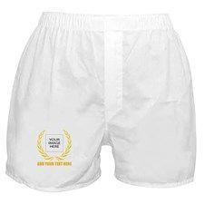 Personal Golden Laurel Wreath Boxer Shorts