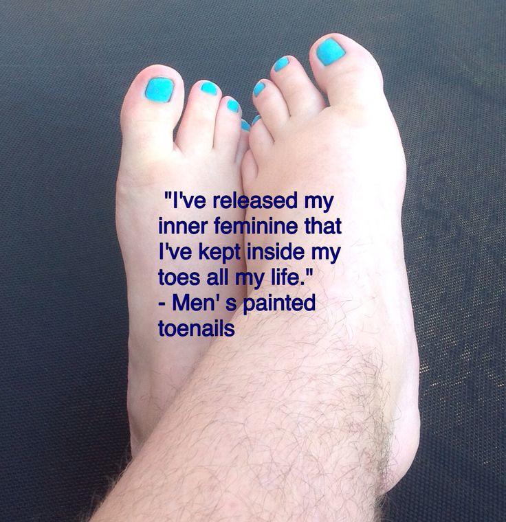 mens painted toenails