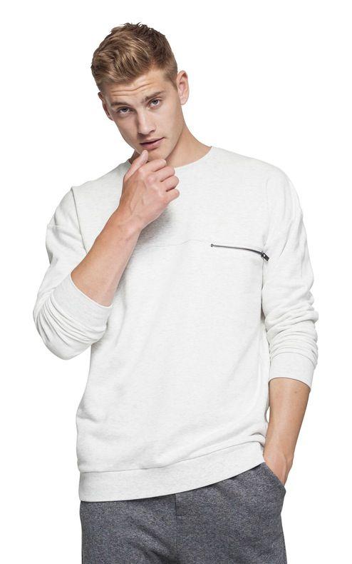 @Onepiece Plunge Sweater Snow White Mel