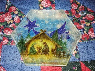 Creativa per gioco e per passione: Decoupage – piatto di vetro con tovagliolo e carta di riso