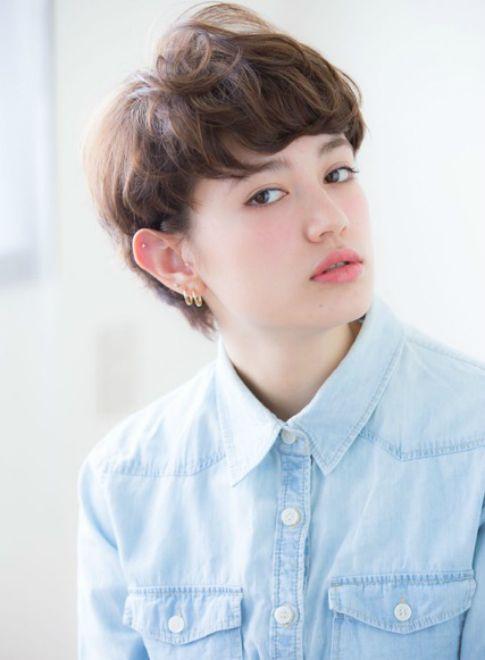 くせ毛風耳かけショート 【aRietta】 http://beautynavi.woman.excite.co.jp/salon/27794?pint ≪ #shorthair #shortstyle #shorthairstyle #hairstyle・ショート・ヘアスタイル・髪形・髪型≫