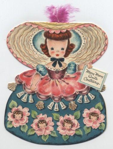Vintage Hallmark Doll Card - Mary Mary Quite Contrary