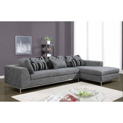 Global Furniture U113 SEC Sectional Sofa Gray Amazon MyPriceForYou.com    Affordable Furniture