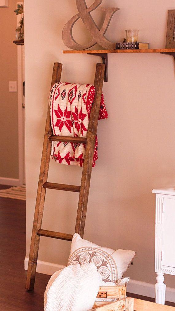 The Minimalistic Blanket Ladder by StixHomeGoods on Etsy