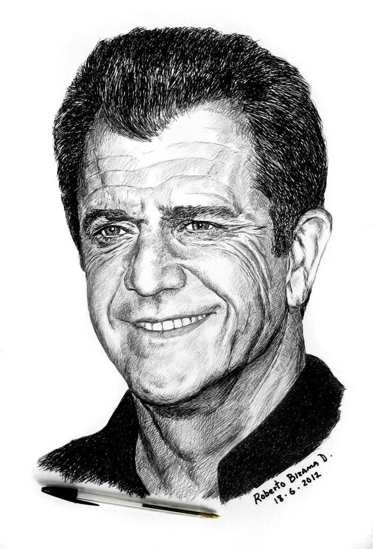 Mel Gibson.- by RobertoBizama on deviantART
