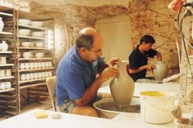 See how pottery is made at the Underground Potteries and view the finished work in the gallery. via Gaander