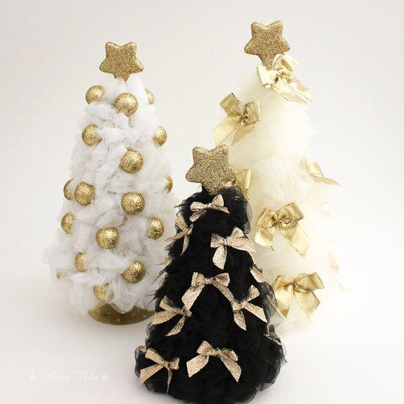 Gold Christmas Tree Tulle Christmas Tree Christmas by NaraRha