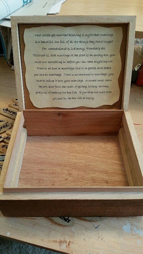 Marriage Box - Made From a Cigar Box                                                                                                                                                     More