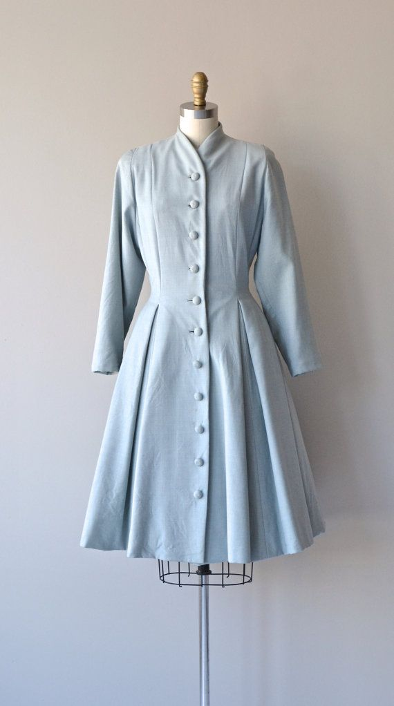 Cloud Story coat 1950s princess coat vintage 50s by DearGolden