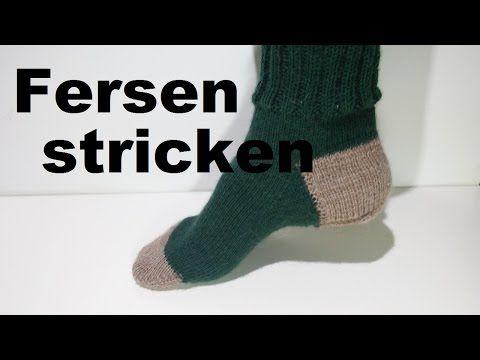 Projekt: Sockenstricken hier das Fersenkäppchen 4. Teil - YouTube