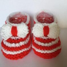 Chaussons rouge et blanc 3-6mois