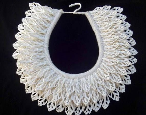 Coachella Look White Cut Shell Necklace 3 Rows Boho Luxe Women
