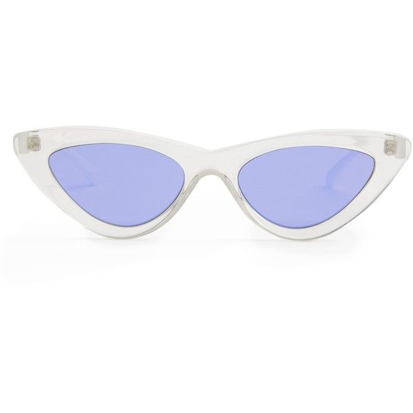 Le Specs X Adam Selman The Last Lolita sunglasses (€84) ❤ liked on Polyvore featuring accessories, eyewear, sunglasses, cat-eye glasses, clear cat eye glasses, clear sunglasses, retro sunglasses and cateye sunglasses
