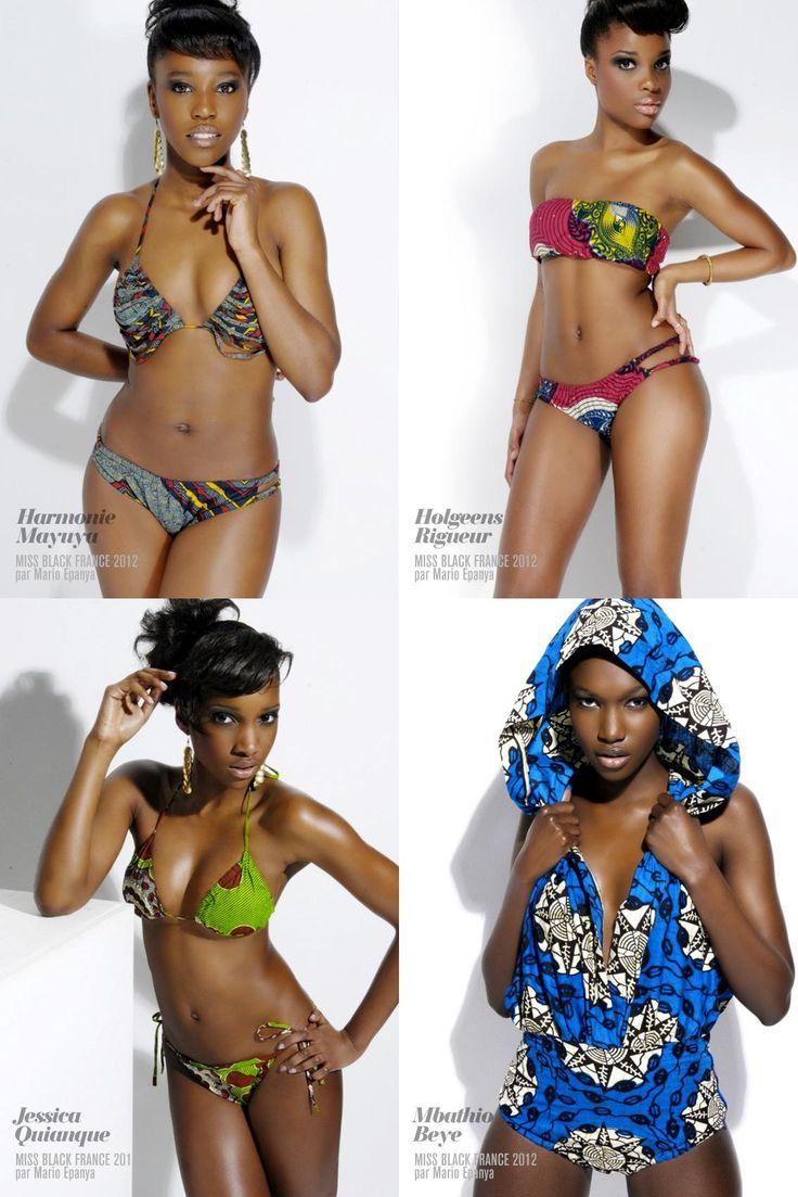 Afro- inspired bikinis...I need this in plus size! :-) ~African fashion, Ankara, kitenge, African women dresses, African prints, African men's fashion, Nigerian style, Ghanaian fashion ~DKK