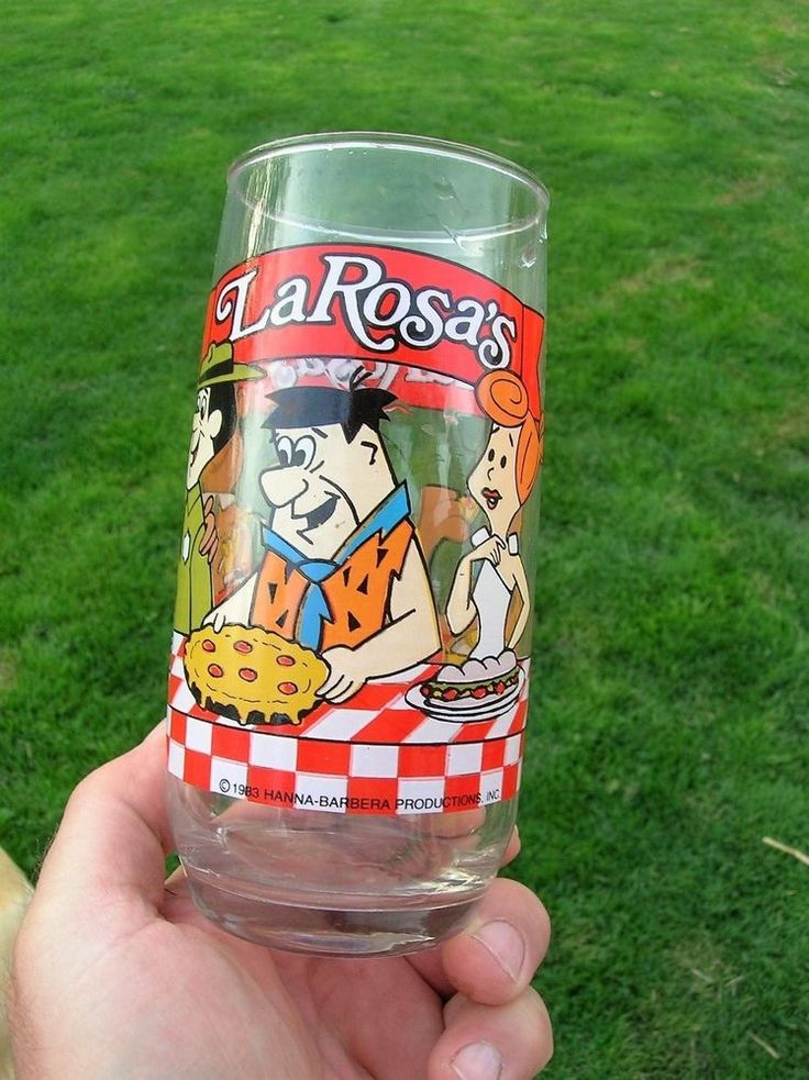 1983 La Rosa's Pizza Pepsi Glass Flintstones Scooby Do Luigi Yogi Bear Cartoons  | eBay