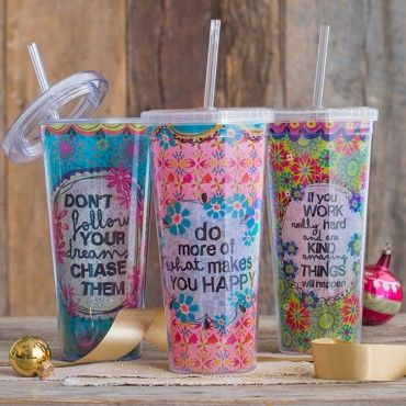 Why not sip from a cute cup on the go? :)