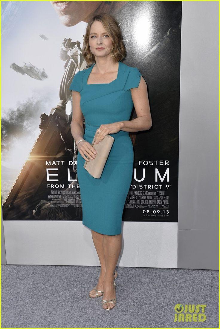 jodie foster elysium | Damon & Jodie Foster: 'Elysium' Premiere! | Jay Leno, Jodie Foster ...