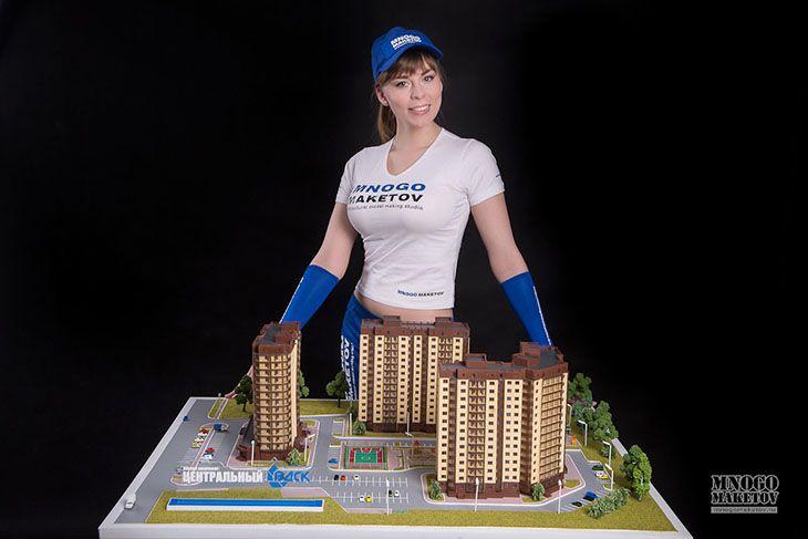 макет жилого комплекса ВДСК #макет #макеты #макетная_мастерская #изготовление_макетов #изготовить_макет