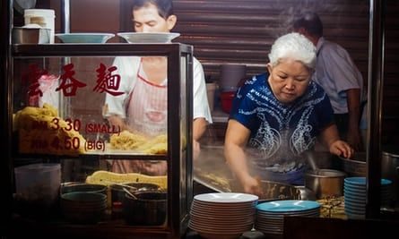 Street food vendor at the night market in George Town, Penang, Malaysia.