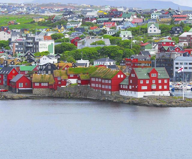 Torshavn is the capital of Færøyene, Faroe islands and is located at east coast of main island Streymoy.