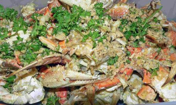 Smoked Garlic Crab recipe picture