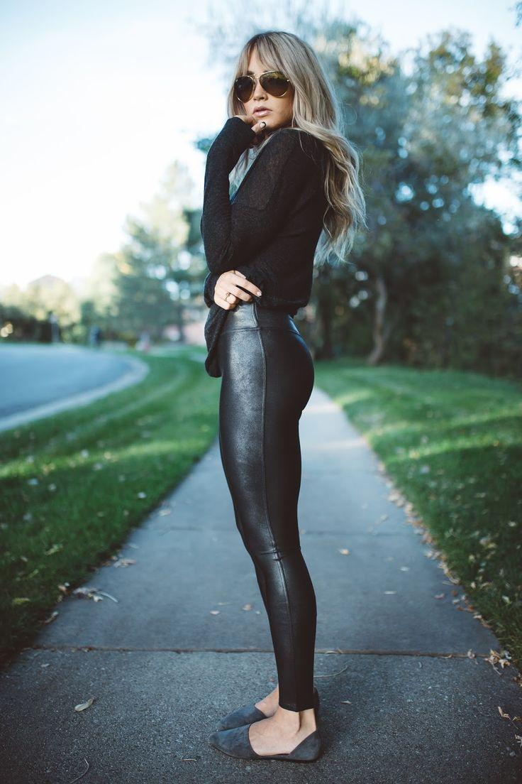 Spanx leggings via Bloomingdales | Top - Vince via Bloomingdales | Shoes - Vince via Bloomingdales| Bag - Burberry via Bloomingdales | Sunnies - Ray Ban via Bloomingdales