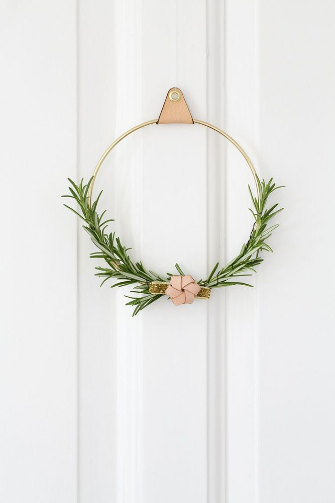 Christmas Wreath Brass Ring Idea