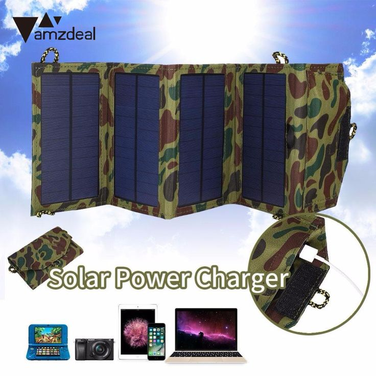 sale amzdeal new hot 7w polysilicon folding solar panel charger plate battery for phone outdoor #folding #solar #panel