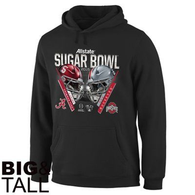 Alabama Crimson Tide vs. Ohio State Buckeyes 2015 Sugar Bowl Criss Cross Big & Tall Hoodie - Black