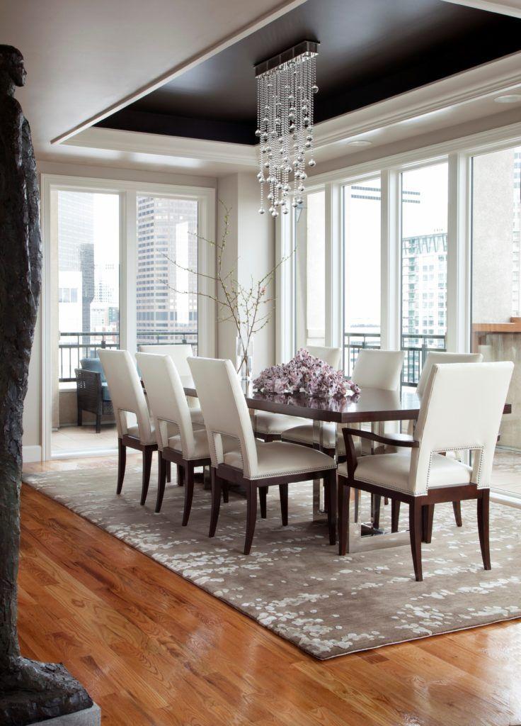 Modern Formal Dining Room Furniture Beautiful Lamp Decoration
